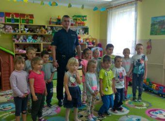Olecko- bezpieczny początek roku szkolnego - policjanci w szkołach#2