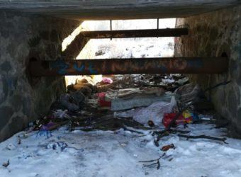 miejsce przebywania bezdomnych