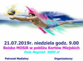 XII Ogólnopolski Turniej Siatkówki Plażowej o Puchar Burmistrza Olecka-plakat-1